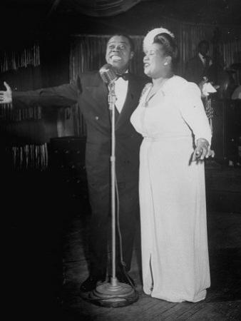Louis Armstrong and Vocalist Performing in Floor Show at Cafe Zanzibar