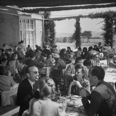 Luncheon on the Terrace at the Exclusive Golf Club Outside Rome
