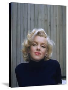 Marilyn Monroe on Patio Outside of Her Home by Alfred Eisenstaedt