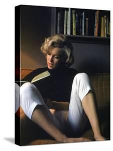 Marilyn Monroe Reading at Home by Alfred Eisenstaedt