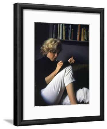 Marilyn Monroe Writing at Home