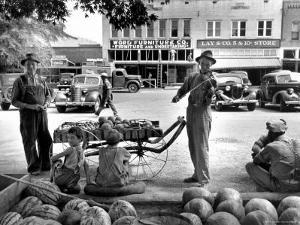 Melon Salesman and Fiddler by Alfred Eisenstaedt