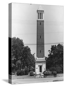 Memorial Bell Tower in Honor of Denny Chimes by Alfred Eisenstaedt