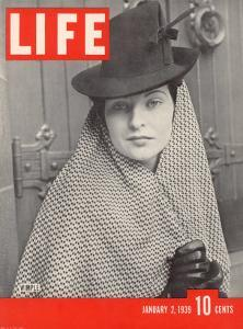 Model Elinor McIntyre Wearing Wimple, Medieval Forerunner of the Hat, January 2, 1939 by Alfred Eisenstaedt