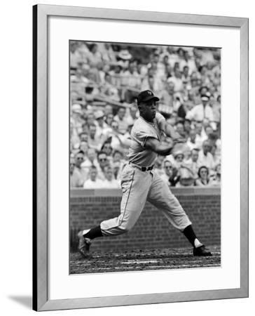 New York Giants Centerfielder Willie Mays at Bat