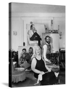 Painter Alice Neel in Her Studio by Alfred Eisenstaedt