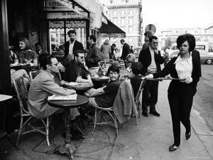 Parisians at a Sidewalk Cafe by Alfred Eisenstaedt