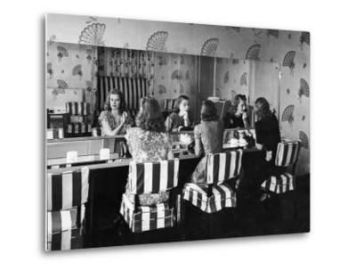 Patrons Touching Up Makeup Powder Room of the Stork Club