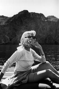 Portrait of Clare Boothe Luce in Majorca, Spain, 1962 by Alfred Eisenstaedt