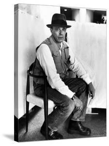 Portrait of German Artist Joseph Beuys at the Guggenheim Museum by Alfred Eisenstaedt