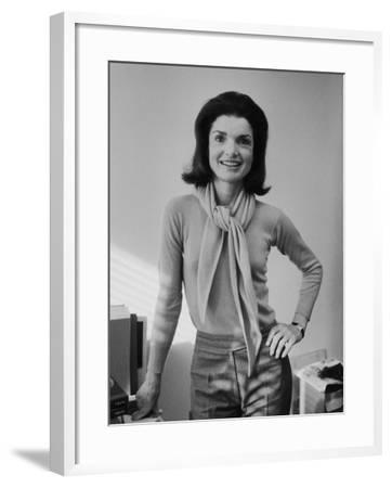 Portrait of Jacqueline Bouvier Kennedy Onassis