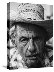 Portrait of Painter Thomas Hart Benton with a Cigar in His Mouth by Alfred Eisenstaedt