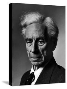 Portrait of Philosopher Bertrand Russell by Alfred Eisenstaedt