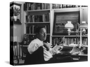 Portrait of Playwright Tennessee Williams Sitting at His Typewriter by Alfred Eisenstaedt
