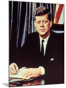 "Portrait of President John F. Kennedy, from the TV Show, ""JFK Assassination as It Happened"" by Alfred Eisenstaedt"