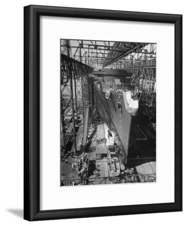 Prior to Launching Oceanliner America, Newport News, Virginia