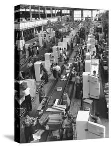 Refrigerators on Assembly Line at General Electric Plant by Alfred Eisenstaedt