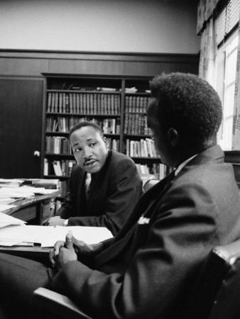 Reverend Martin Luther King Talking with Visiting African Leader Kenneth Kaunda