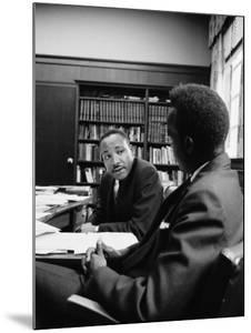 Reverend Martin Luther King Talking with Visiting African Leader Kenneth Kaunda by Alfred Eisenstaedt