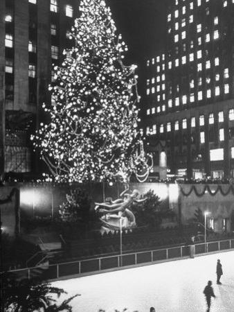 Rockefeller Center Christmas Tree at Night