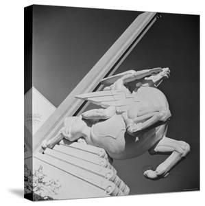 "Sculpture by Joseph Reiner Entitled ""Speed"" at the 1939 World's Fair in New York by Alfred Eisenstaedt"