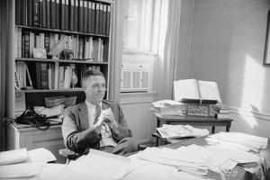 Senator James Lane Buckley Seated at His Desk, 1970 by Alfred Eisenstaedt