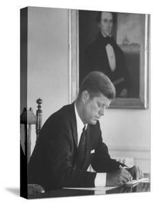 Senator John F. Kennedy in His Office after Being Nominated for President at Democratic Convention by Alfred Eisenstaedt