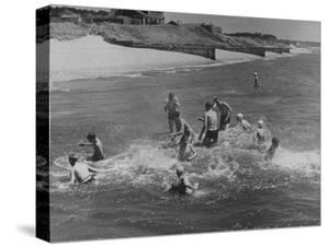 Sights of a Typical Summer at Cape Cod: Swimming in Nantucket Sound by Alfred Eisenstaedt