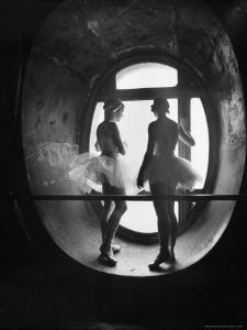 Silhouetted Ballerinas During Rehearsal for Swan Lake at Grand Opera de Paris by Alfred Eisenstaedt