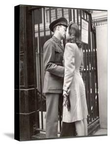 Soldier Kissing His Girlfriend Goodbye in Pennsylvania Station Before Returning to Duty by Alfred Eisenstaedt