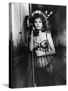 "Sophia Loren Wearing Costume, Talking on Telephone During Scene in ""Marriage, Italian Style"" by Alfred Eisenstaedt"