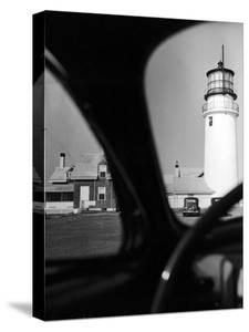 Summer at Cape Cod: Highland Lighthouse Viewed from Automobile by Alfred Eisenstaedt
