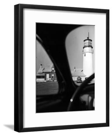 Summer at Cape Cod: Highland Lighthouse Viewed from Automobile