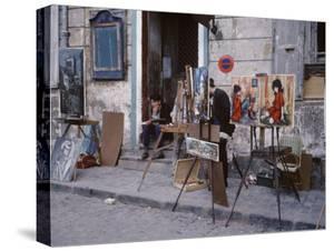 The Parisians: Artists on Place du Terte Near Sacre Coeur Montmartre by Alfred Eisenstaedt