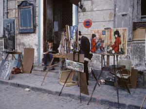 The Parisians: Artists on Place du Terte Near Sacre Coeur Montmartre by Alfred Eisenstaedt