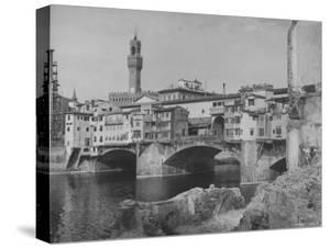The Ponte Vecchio over the Arno River by Alfred Eisenstaedt