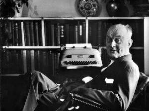 Theologian Reinhold Niebuhr in His Office by Alfred Eisenstaedt