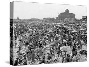 Throngs of People Crowding the Beach at the Resort and Convention City by Alfred Eisenstaedt