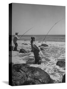 Two Men Fishing Off Montauk Point by Alfred Eisenstaedt
