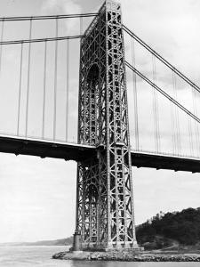 View of Tiny Lighthouse at the Foot of the George Washington Bridge by Alfred Eisenstaedt