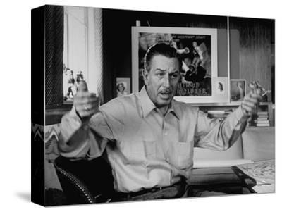 Walt Disney Speaking in His Office of His Burbank Back-Lot Studios, Burbank, California, 1953