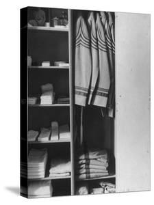 West Point Cadet's Locker Neatly Arranged in Barracks at the US Military Academy by Alfred Eisenstaedt