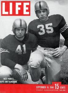 West Point Football Players Glenn Davis and Felix Blanchard, September 16, 1946 by Alfred Eisenstaedt