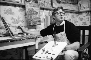 William F. Buckley Painting at the Buckley Estate, 1970 by Alfred Eisenstaedt