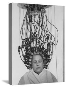 Woman at Hairdressing Salon Getting a Permanent Wave by Alfred Eisenstaedt