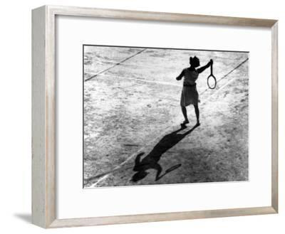 Woman Playing Tennis, Alfred Eisenstaedt's First Photograph Ever Sold