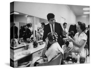 Women Getting Hair Styled in Beauty Salon at Saks Fifth Ave. Department Store by Alfred Eisenstaedt