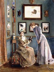 Women with a Japanese Doll, 1894 by Alfred Emile L?opold Stevens