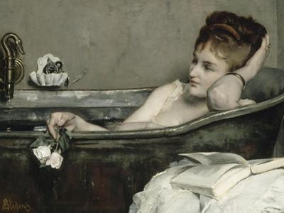 The Bath, also Said the Woman in the Bath or Shower by Alfred Emile Léopold Stevens