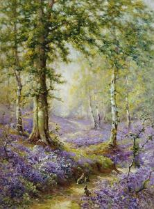 The Bluebell Wood by Alfred Fontville de Breanski